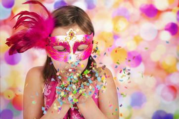 Mädchen im Karneval