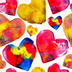 Colorful heart love pattern background