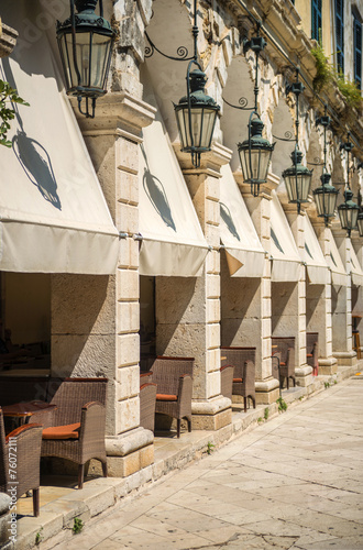 Street view of Corfu, Greece