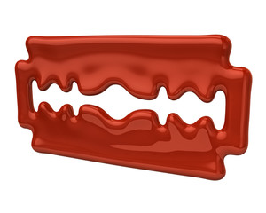 Orange blade razor icon