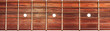 Leinwanddruck Bild - Acoustic guitar fretboard background
