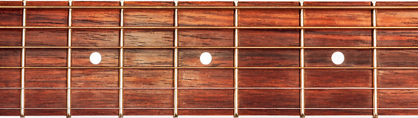Acoustic guitar fretboard background