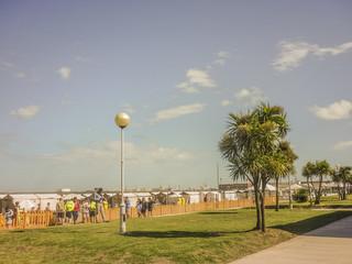 Sidewalk in Front of Beach in Mar del Plata