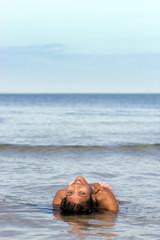 Attractive girl in the sea