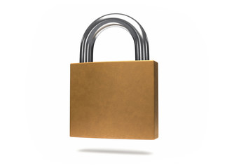 3D Isolated Security Padlock