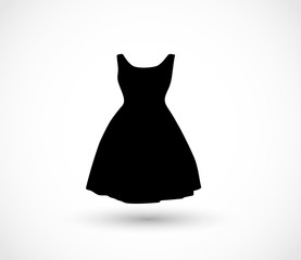 Black dress icon vector