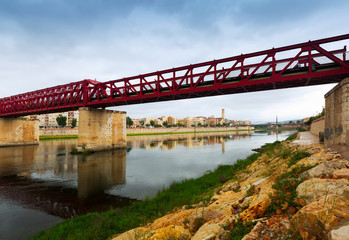 Footbridge over Ebre in Tortosa, Spain