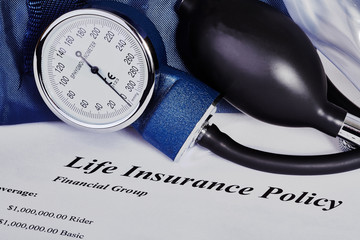 Blood pressure cuff with CPR mask and insurance policy
