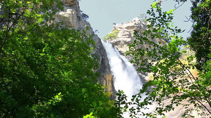 Deep Uchan-su falls on the mountain Ah-Petri