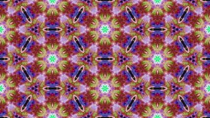 Kaleidoscopic generated seamless loop 4k UHD video