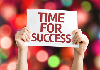 Time for Success card with colorful background