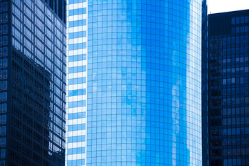 Lower Manhattan mirror skyscrapers New York