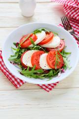 fresh tomato salad with mozzarell