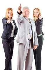 Successful Senior Manager with two female colleagues
