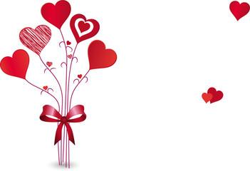 Herz-Blumenstrauß, Vektor
