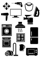 household appliances black