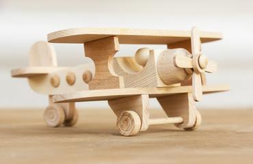 wooden model of plane