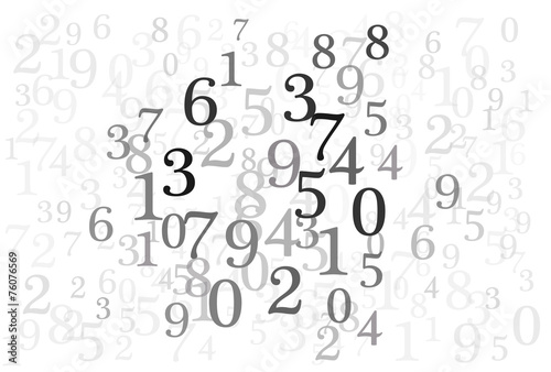An abstract background with random numbers in gray scale