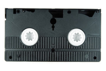 video tape casette isolated on white