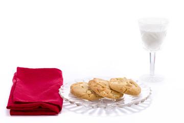 Macadamia Nut Cookies and Milk
