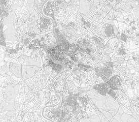 Roma mappa cartina vista satellitare disegno