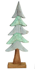 Christmas toy fir tree isolated on white