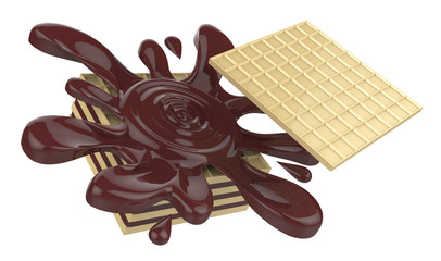 Wafers with chocolate
