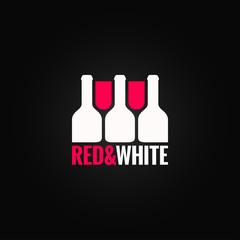 wine glass bottle design background