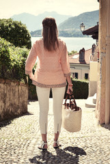 Lake Como, Italy -- retro nostalgic filtered look