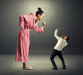 woman and small man
