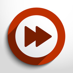 Vector play fast web icon.