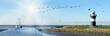 Leinwanddruck Bild - Nordseeküste, Wremen