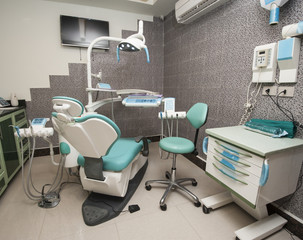 Equipment in a dentist surgery