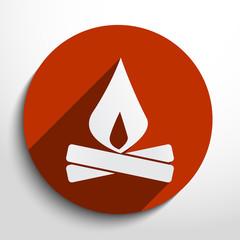 Vector campfire web icon.