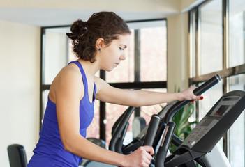 Gym woman workout