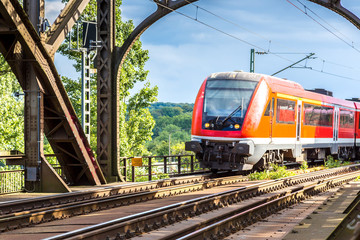 Electric locomotive in Frankfurt