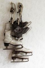ice skate still life vintage