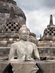 Buddha Statue at Borobudur Temple, Yogyakarta, Java, Indonesia.