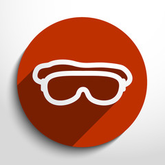 Vector diving mask web icon.