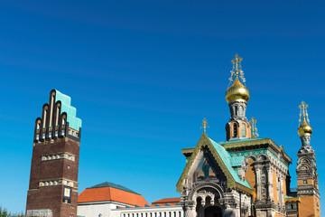 Wedding tower and church, Darmstadt
