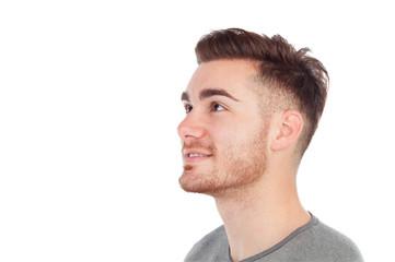 Profile of a casual men