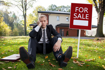 Worried estate agent