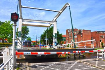 Delft, puente de Ham, Hambrug, puente móvil, Holanda