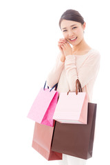 young asian woman shopping image