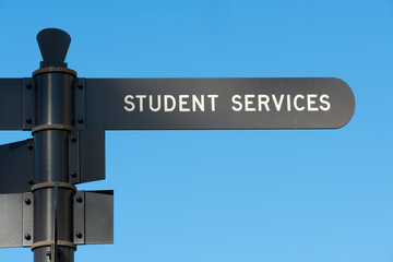 Student services sign at San Diego State University