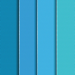 Abstract background with blue paper layers.