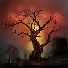 Scary horror tree