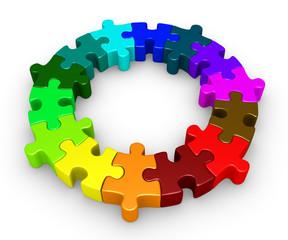 Puzzle pieces diversity concept
