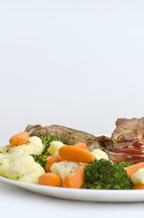 Pork ribs with Boiled  Vegetables