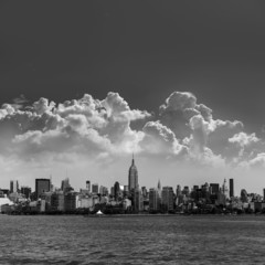 Manhattan New York skyline from Hudson River